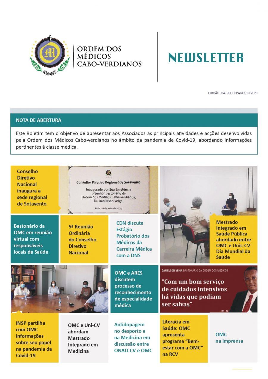 Newletter Julho-Agosto 2020